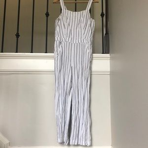 Loft stripped jumpsuit size M